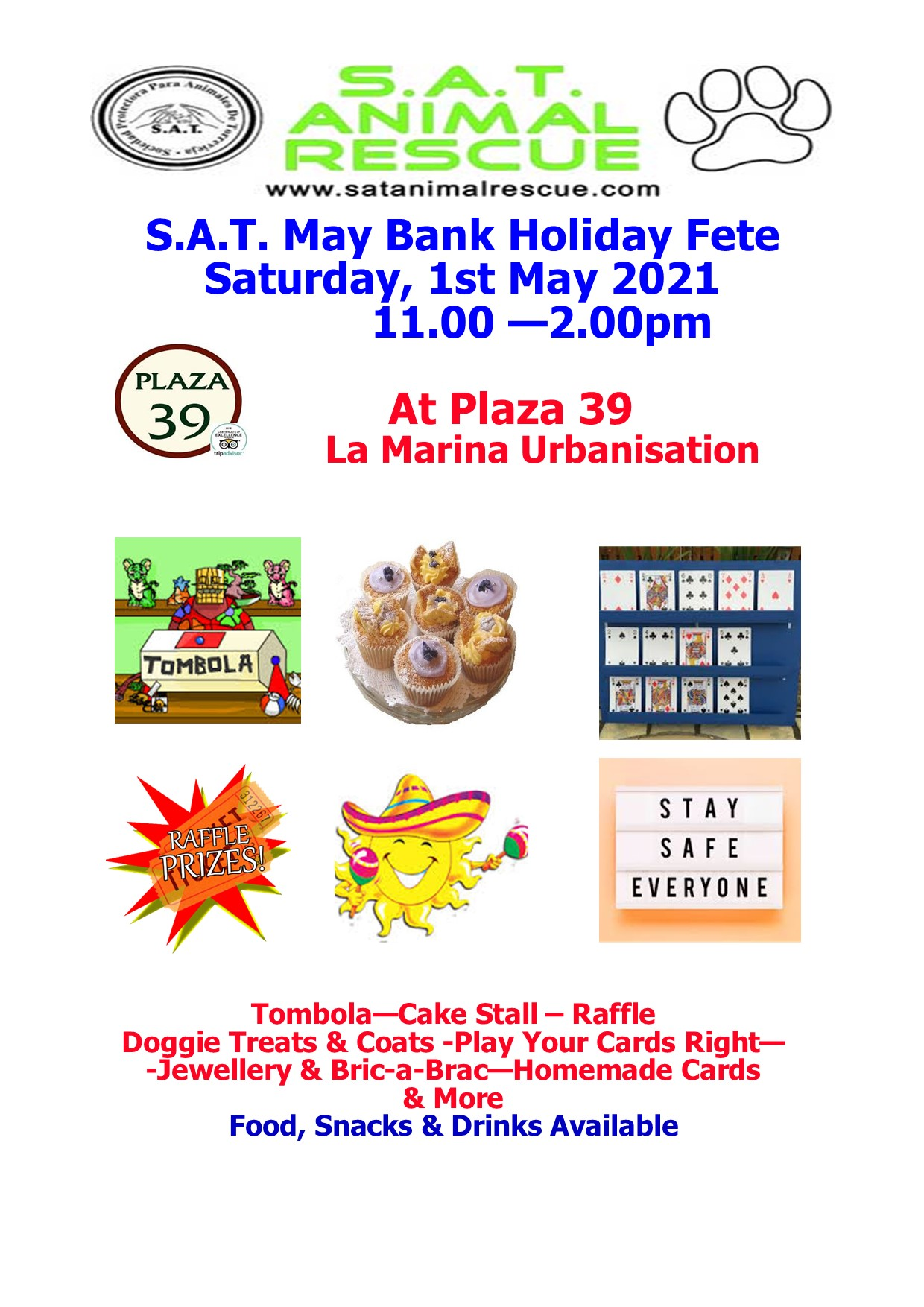 S.A.T May fete 2021 poster